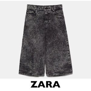 ZARA Black 80's Acid Wash Long Shorts US 26 / 2